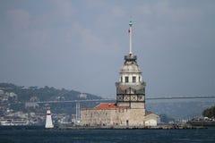 Maidens Tower in Bosphorus Strait, Istanbul Stock Image