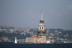 Maidens Tower in Bosphorus Strait, Istanbul Royalty Free Stock Photography