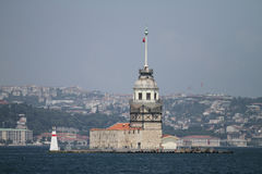 Maidens Tower in Bosphorus Strait, Istanbul Royalty Free Stock Images