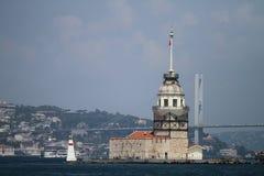 Maidens Tower in Bosphorus Strait, Istanbul Stock Photos