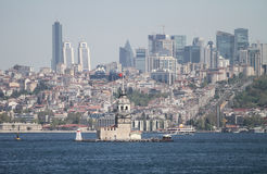 Maidens Tower in Bosphorus Strait, Istanbul Stock Photo