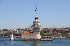 Maidens Tower in Bosphorus Strait, Istanbul Stock Photos