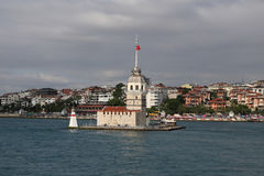 Maidens Tower in Bosphorus Strait, Istanbul Royalty Free Stock Image