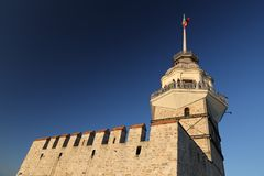 Maidens Tower in Bosphorus Strait, Istanbul. City, Turkey Stock Photos