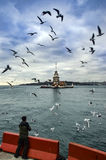 Maidens Tower in Istanbul Royalty Free Stock Photo