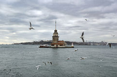 Maidens Tower in Istanbul Stock Image