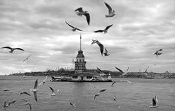 Maidens Tower in Istanbul Stock Images