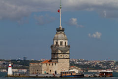 Maidens Tower, Istanbul Stock Images