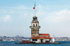 Maidens Tower in Istanbul Turkey stock photos
