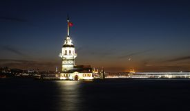 Maidens Tower in Istanbul, Turkey Stock Photo