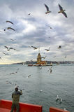 Maidens Tower in Istanbul Stock Photography