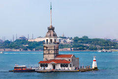 Maidens Tower in Istanbul Turkey royalty free stock photo