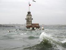 Maidens Tower , Istanbul,Turkey Stock Photo