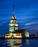 Maidens Tower, Istanbul, Turkey. Maidens Tower in late evening, The Bosphorous, Istanbul. Also Known as Leander's Tower Stock Image