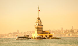 Maidens Tower located in Istanbul Royalty Free Stock Image