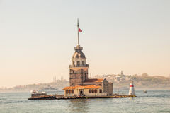 Maidens Tower located in Istanbul Stock Images