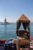 Maidens Tower located in Istanbul Royalty Free Stock Photos