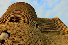Maidens tower a symbol of Baku Stock Photography