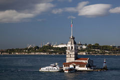 Maidens Tower. At uskudar,istanbul Stock Photo