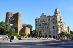 MaidenTower w Baku obraz royalty free