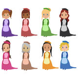 Maids. Set of cartoon style maids Stock Image