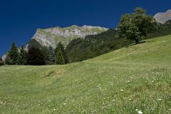 Maienfeld in Switzerland Alps Royalty Free Stock Image