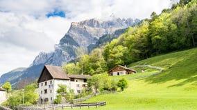 Heididorf, the village of Heidi in Swiss Alps, Switzerland Stock Photo