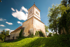 Maierus fortified city, brasov, romania. Transylvania, Romania. Image of fortified church of Maierus, UNESCO heritage site, german landmark in romanian country Stock Images