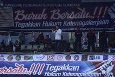 Maifeiertag in Semarang-Stadt Stockbilder