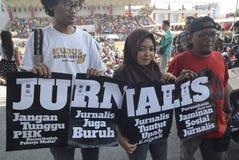 Maifeiertag in Semarang-Stadt Stockfotografie