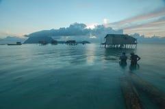 Maiga-Sonnenaufgang lizenzfreie stockfotografie