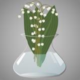 Maiglöckchen im Vase Lizenzfreies Stockbild