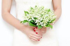 Maiglöckchenblumenstrauß stockfoto