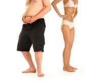 Maigre et graisse 2 image stock