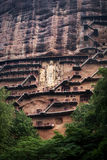 Maijishan Grottoes Royalty Free Stock Photography