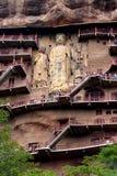 Maijishan grottor nationalpark, Tianshui, Kina fotografering för bildbyråer