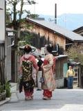 Maiko在京都在日本 免版税库存图片