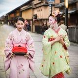 Maiko在京都 免版税库存照片