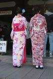 Maiko в очереди в Киото Стоковые Изображения RF