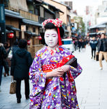 Maiko,  apprentice geisha Stock Photos