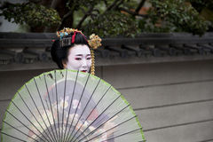 Maiko couple walking in Kyoto, Japan Stock Images