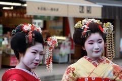 Maiko Geisha dräkthyra/göra-över Royaltyfri Fotografi