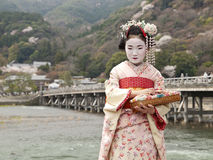 Maiko in Kyoto Royalty Free Stock Photo