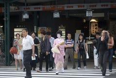 Maiko, Kyoto, Giappone Immagini Stock Libere da Diritti