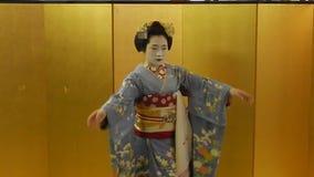 Maiko, Kyoto, Japón almacen de metraje de vídeo