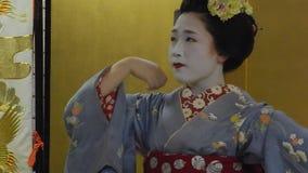 Maiko, Kyoto, Japón almacen de video