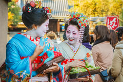 Maiko in Kyoto Royalty Free Stock Photography