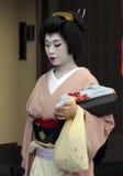 Maiko - leerlingsgeisha Stock Foto's