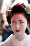 Maiko no identificado en acontecimiento del houjoue Foto de archivo libre de regalías