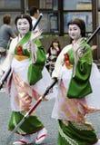 Maiko på den Nagoya festivalen, Japan fotografering för bildbyråer
